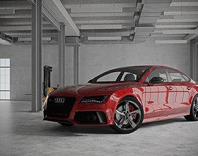 Audi RS7 - Loft Interior - Vray Studio Scene 3D