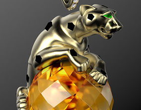 panther pendant 3d model leopard