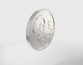 SCORPIO Zodiac sign coin 3D printable model