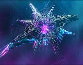 Alien World Destroyer Starship 3D model