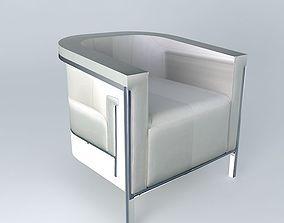 3D model Ecru armchair URBAN houses the world