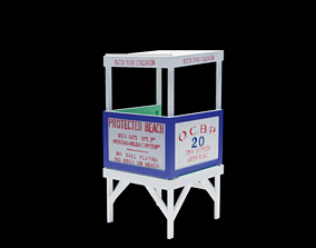 3D Ocean City Lifeguard Chair