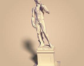 3D model Low Poly David Statue