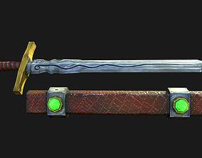 3D model Stylized Long Sword Handpainted
