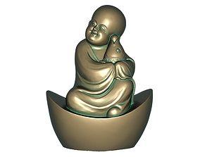 3D asset VR / AR ready Buddhist monk
