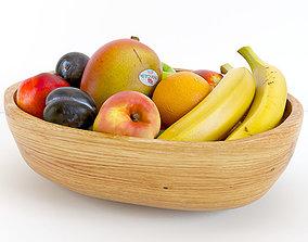 orange 3D model Fruit Bowl
