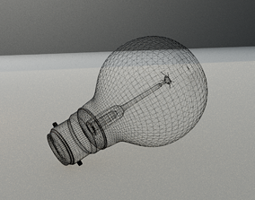Vintage Edison light bulb 3D model