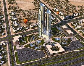 3D high rise building - commercial towers