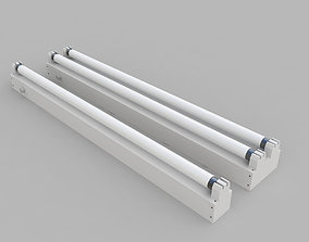 3D Strip Fluorescent Fixture Single and Dual