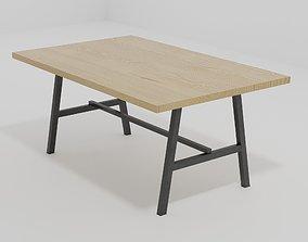 3D model Simple Wooden Table design