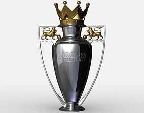 Premier League Cup Trophy 3D