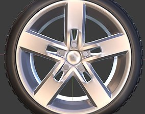 Volkswagen Golf Strong Wheel with Tire 3D printable model
