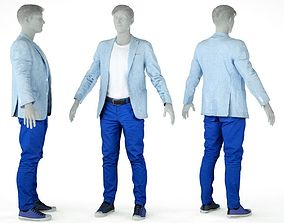 3D model Male Casual Outfit 59 Jacket Shirt Trousers