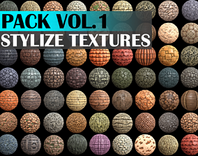 3D asset Stylized Texture Pack - VOL 1