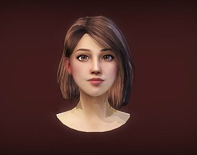 Realtime Female Bob Hairstyle - Game 3D model