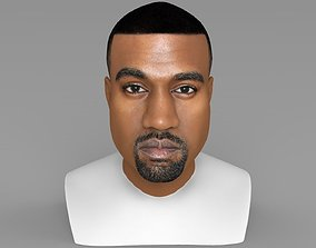 Kanye West bust ready for full color 3D
