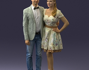 3D model beautiful couple 0913