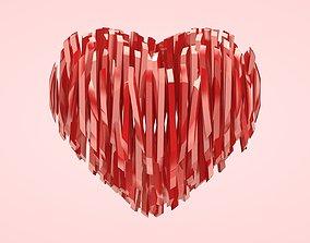 Heart Strips 3D model