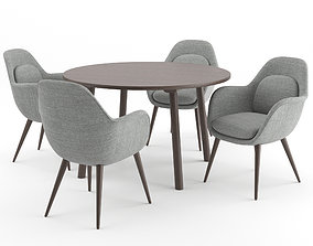 3D Swoon Chair and Taro Table by Fredericia