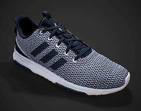 Adidas White Sneakers 3D model
