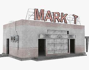 3D model Low poly abandoned market