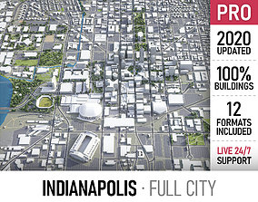 3D model Indianapolis - city and surroundings