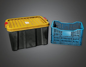 3D model HLW - Plastic Container 01 - PBR Game Ready