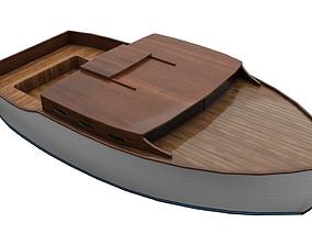 3D asset VR / AR ready Wooden Boat