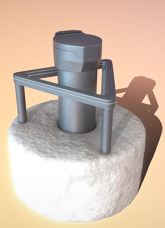 Groundwater Measuring Point 3 High-Poly (Blender-2.91)