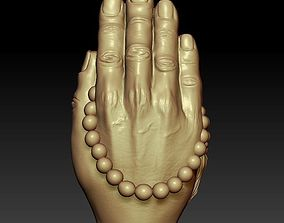praying hands 3D printable model