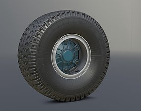 3D asset VR / AR ready Wheel for tractor trailer PTS