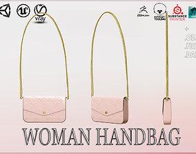 3D model low-poly PBR Woman Handbag Louis