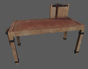 Wooden Workbench 3D asset
