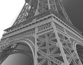 exterior 3D eiffel tower