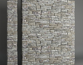 decor Stone Wall 3D model