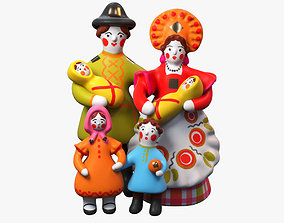 Family 3d Model Sculpture for 3ds Max Vray and realtime 1