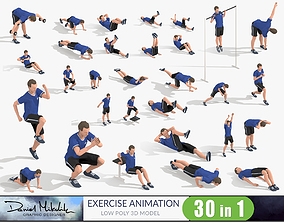 Exercise Animations Bundle 3D asset
