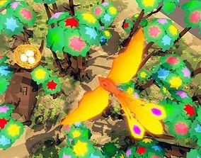 fantasy phoenix forest 3D model