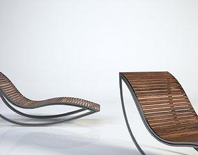 3D model Dondola chaise longue wooden