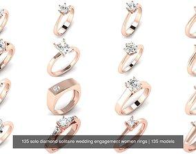3D model 135 solo diamond solitaire wedding engagement 1