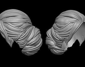bun hairstyle 3D printable model