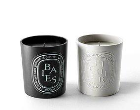 3D Baies Noire and Figuier Candles bathtub