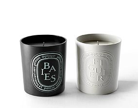 3D Baies Noire and Figuier Candles