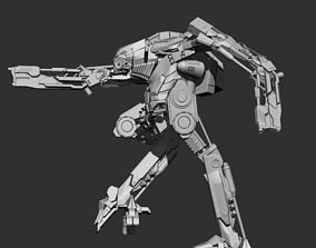3D Robot Mech Bi-ped character rigged