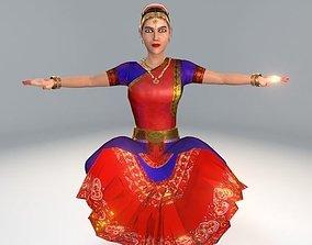 Bharatanatyam Dancer Female Rigged 3D model
