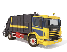 3D model SCANIA P94 GARBAGE TRUCK
