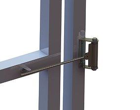3D printable model door push spring