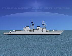 Spruance Class DD985 USS Cushing 3D