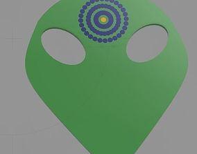 Alien Guitar pick with Grip 3D print model
