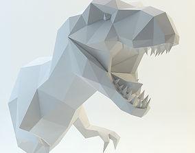 head t-rex dinosaur 3D model